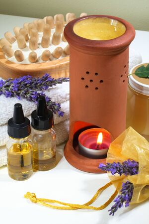 body treatment: Some objects of relaxation and body treatment,lavender spa