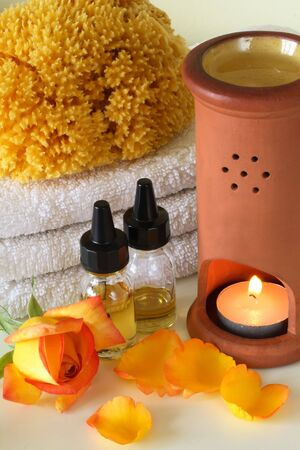 basic care: Some objects of relaxation and body treatment,aromatherapy