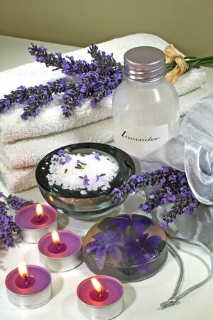 body treatment: Some objects of relaxation and body treatment,aromatherapy lavender