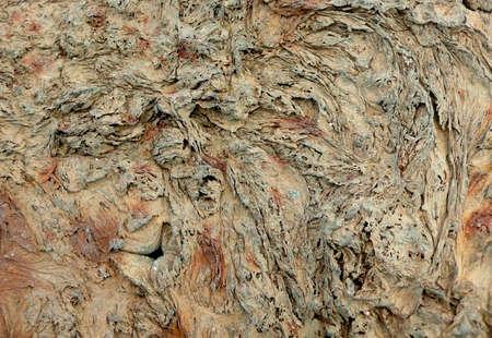 tortured: Rusty, melted, tortured metal left after the blast