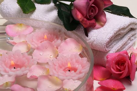 body treatment: Some objects of relaxation and body treatment Stock Photo