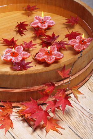 Autumn spa, some objects of relaxation photo