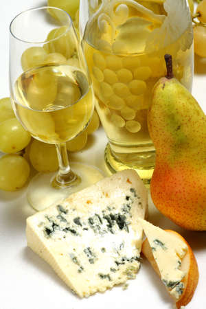 degustation:  wine and cheese