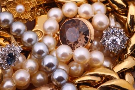 jewelry design: Jewelry treasure Stock Photo