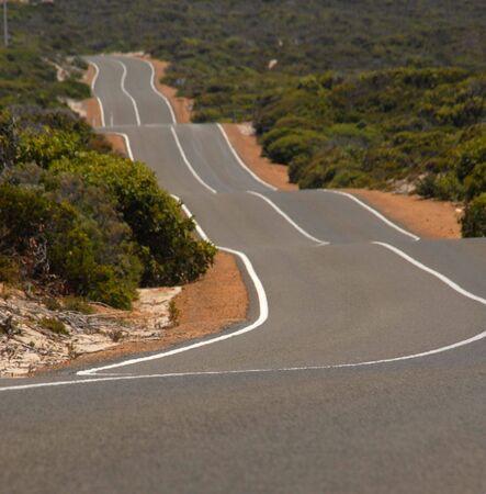 tortuous: Australian road Stock Photo