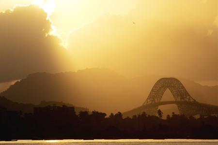 americas: Bridge of the Americas Stock Photo