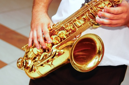 Saxophone music team from my town photo