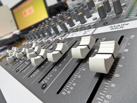Audio console in my home studio photo