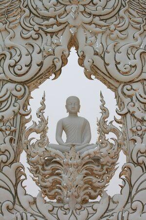 revere: White buddha Stock Photo