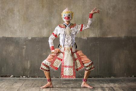 khon: Khon performances on grunge background