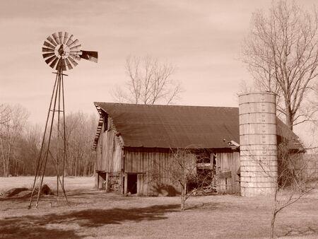 Old Rural Farm Scene
