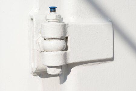 hinge: white ship metal hinge