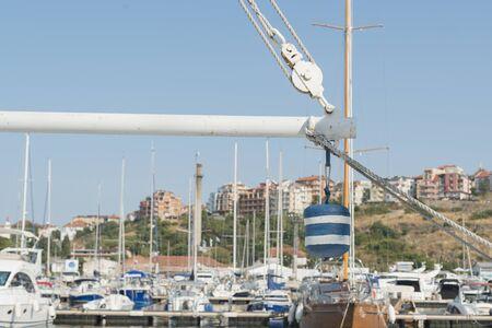 deatil: boat deatil in a port Stock Photo