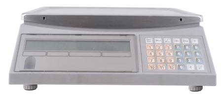 electronic background: market electronic scale. isolated on white background.