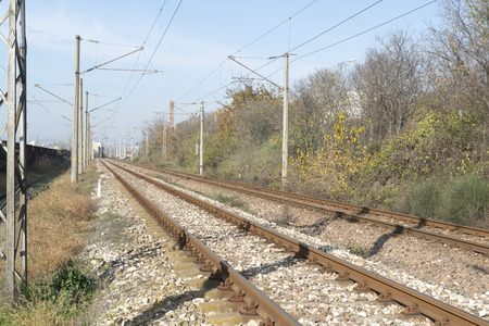 railing: train railing