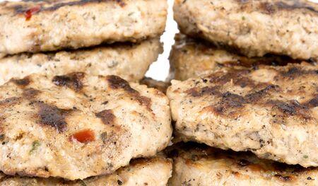 bulgarian: close up of roasted Bulgarian meatballs