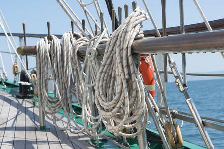cordage: sailing vessel rigging