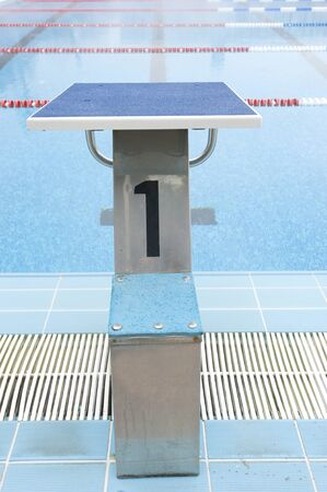 plunge: water pool plunge with number 1