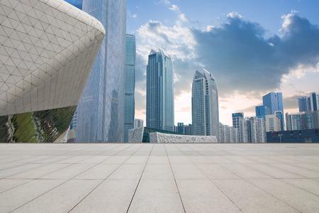 China Guangzhou City Plaza, built-up city center.