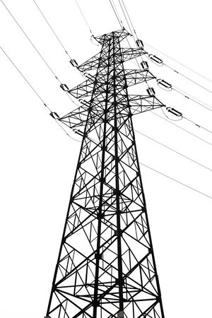 transmission: Power Transmission Tower Stock Photo