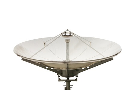antena parabolica: antena parab�lica, aislado en blanco