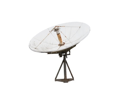 Satellite dish , Isolated on white 版權商用圖片