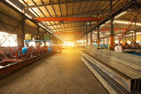 Steel production at the metallurgical plant