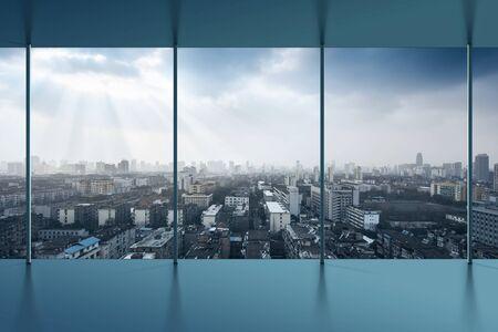 bird's eye view: Birds eye view of the scene of major cities.