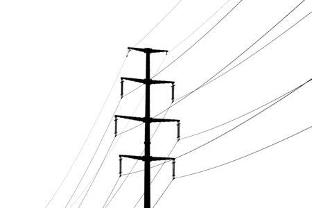 dangerous construction: Electricity pole
