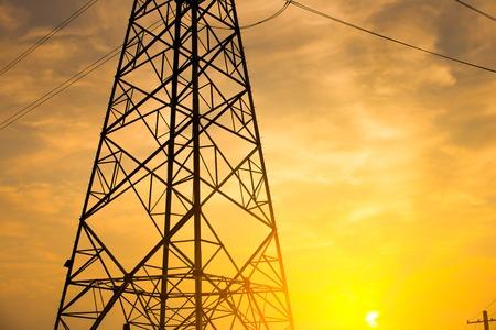 isolator: The evening of the pylon outline Stock Photo