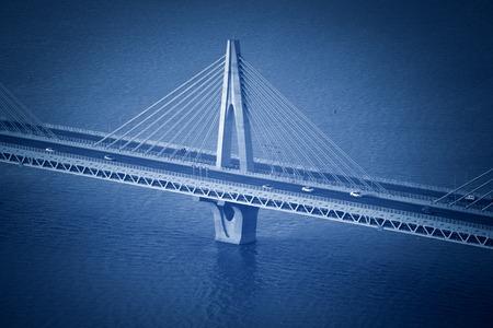 modern bridge: Modern bridge fragment Stock Photo