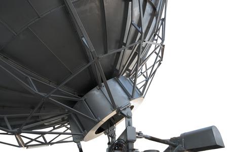 satellite dish: Satellite dish , Isolated on white Foto de archivo