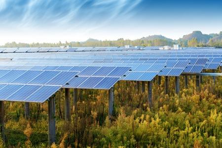 Photovoltaic panels for renewable electric production, Navarra, Aragon, Spain.