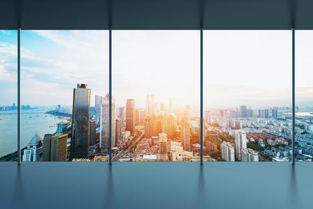 Manhattan kantoor uitzicht op de stad Stockfoto