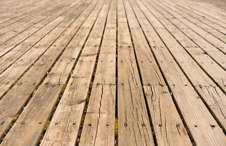 dirty room: empty wooden floor isolated on white Stock Photo