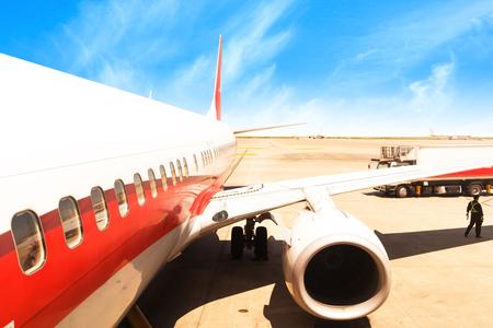 Aircraft China Shanghai airport tarmac Editorial