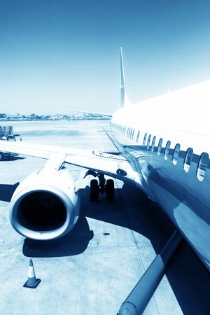 new addition: Aircraft China Shanghai airport tarmac Stock Photo
