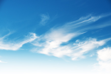 Cloudy blue sky abstract background Stock Photo