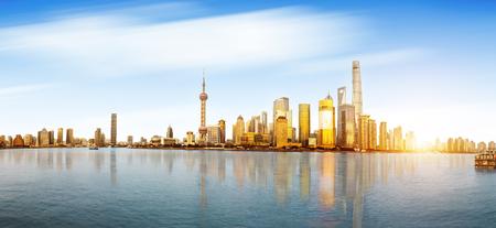 Shanghai skyline and cityscape Standard-Bild