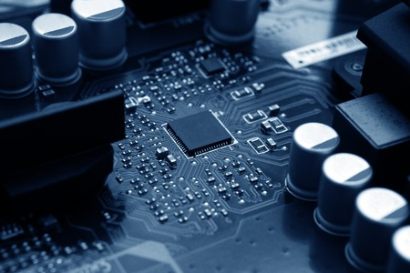 computer digital chip with motherboard 版權商用圖片