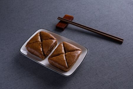 Bingtang Cake with Red Wood Chopsticks