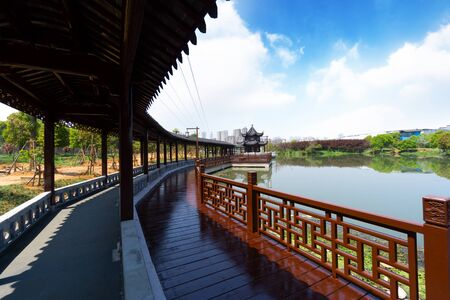 The famous Chinese ancient buildings, Tengwangge.