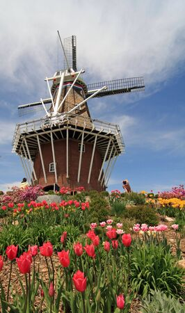 Authentic Dutch windmill in Holland, Michigan