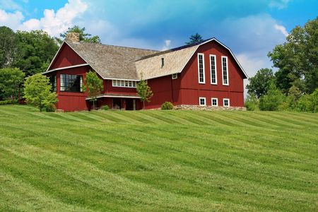 residence: Upscale residence built like a barn Stock Photo