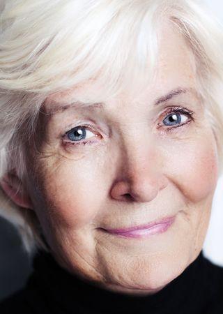 Senior lady portrait close-up