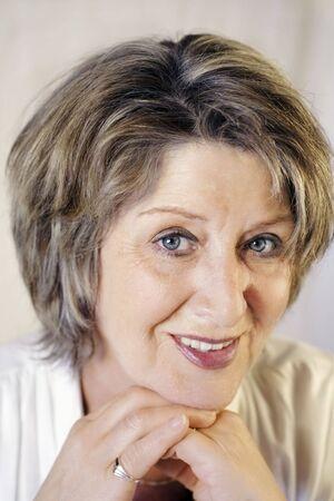 Elegant senior lady portrait Stock Photo