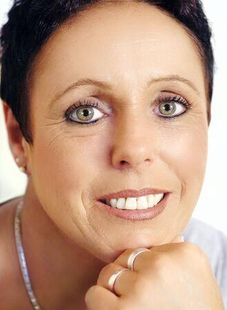 Beautiful mature woman portrait,closeup