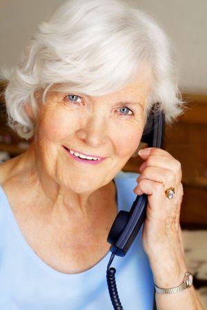 Senior woman having phone call