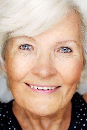 Happily senior woman portrait