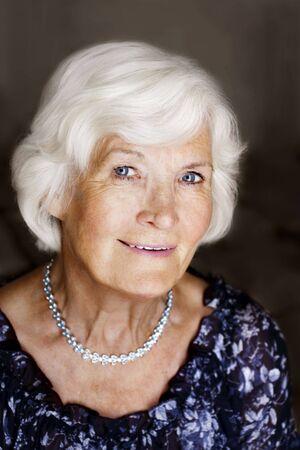 Eelgant senior lady portrait Stock Photo - 3590742